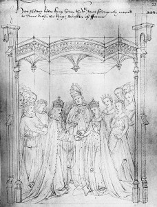 Tudor - The marriage of Henry V and Katherine of France, 2 June 1420.