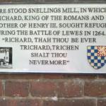 Windmill plaque