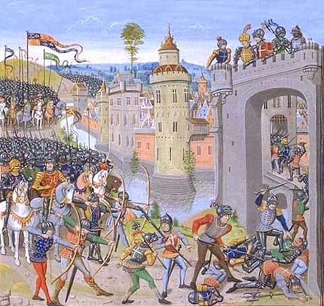 Agincourt - The attack by Henry V's army on Harfleur