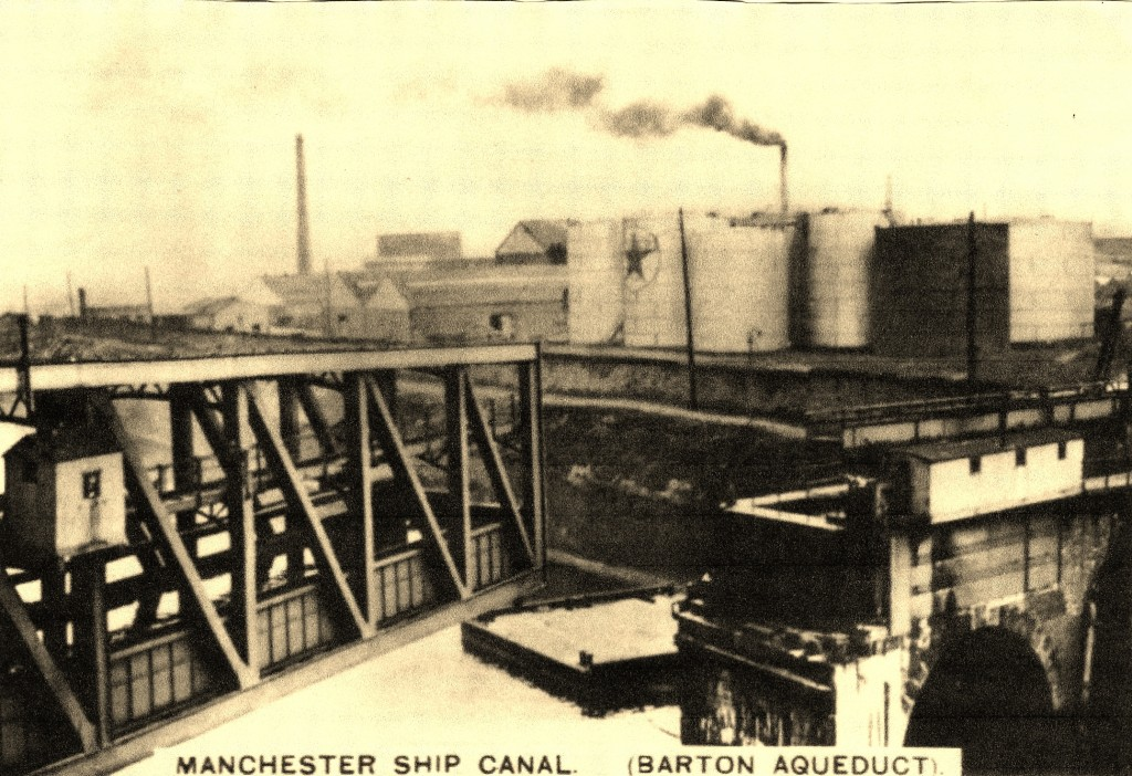Manchester Ship Canal Through Time - Barton Oil Terminal Aqueduct c 1930