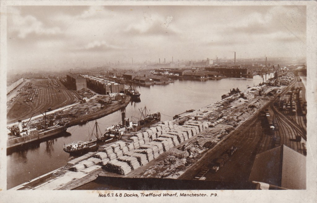Manchester Ship Canal Through Time - Docks Trafford Wharf