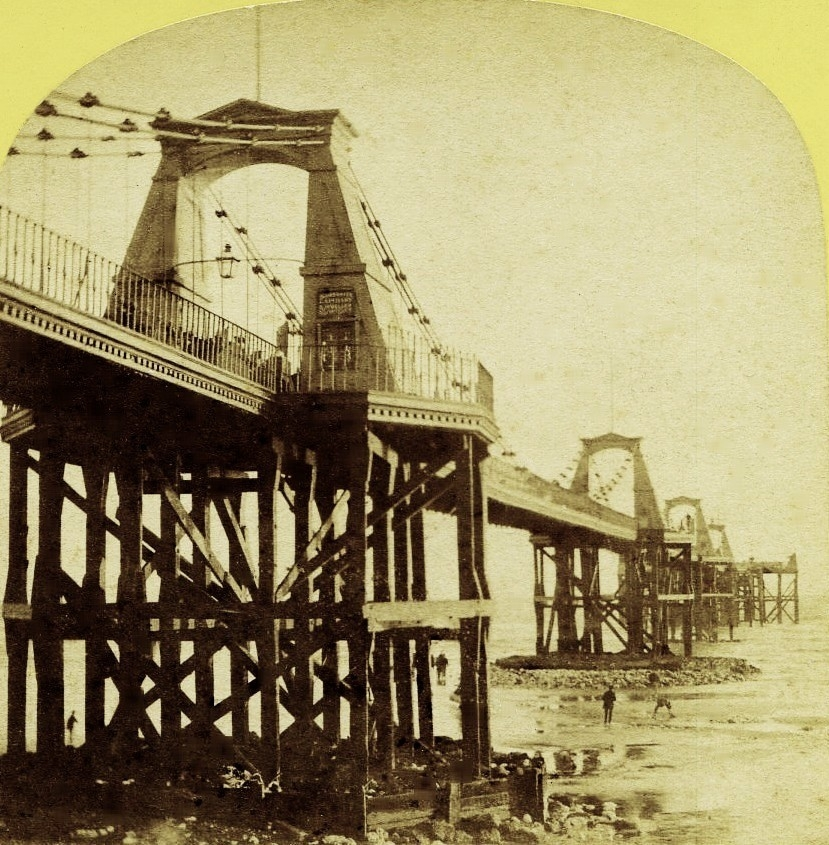 Brighton From Old Photographs Brighton's Chain Pier opened in 1823 destroyed by storm in 1896