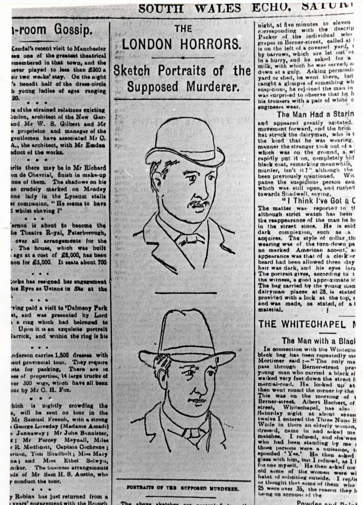 PICTURE SHOWS: JACK THE RIPPER.     COPYRIGHT: NO NAME.  DATE: 2, APRIL, 1988.